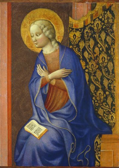 Panicale, Masolino da: The Virgin Annunciate. Fine Art Print/Poster. Sizes: A4/A3/A2/A1 (004169)